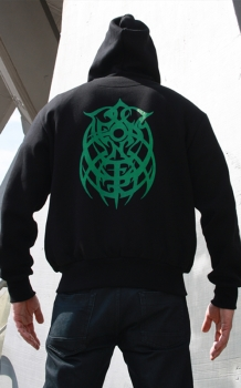Aeons Confer Zip Hoodie Green Logo Front/Backprint